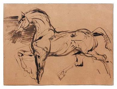 Etude cheval carpeaux
