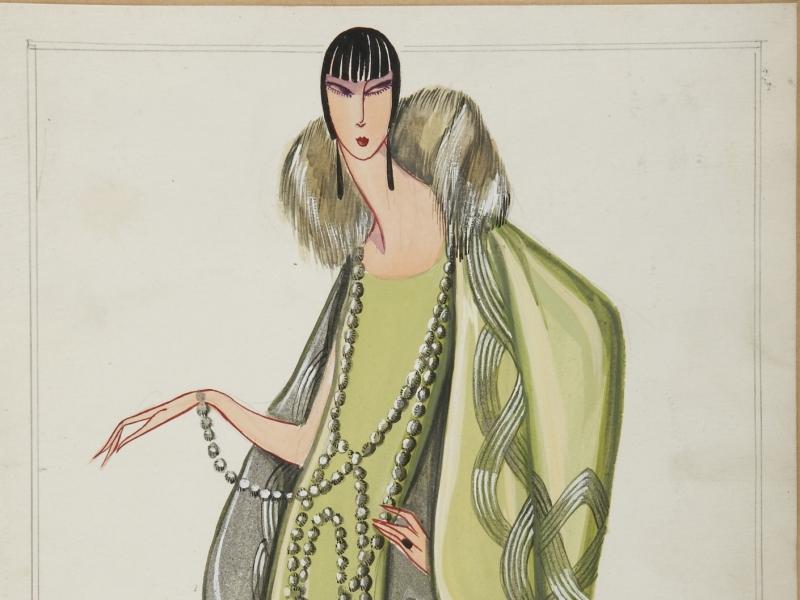 LESBOS, dessin 1925 -® Patrimoine Lanvin (300)