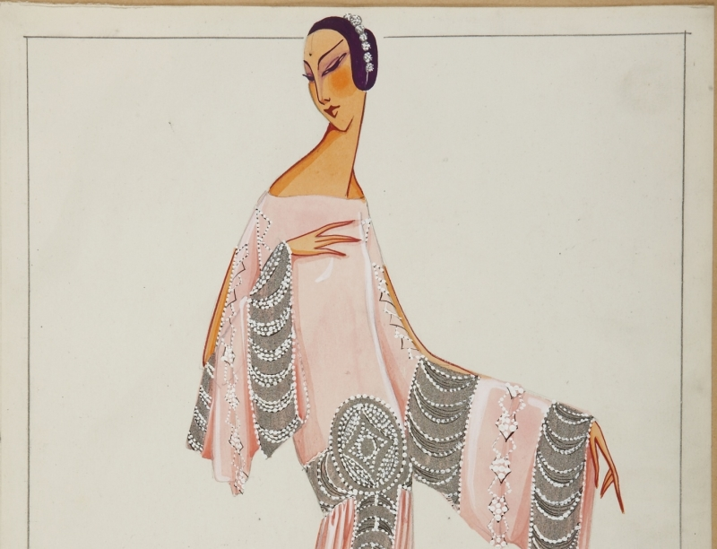 MAHARANEE, dessin 1925 -® Patrimoine Lanvin (300)