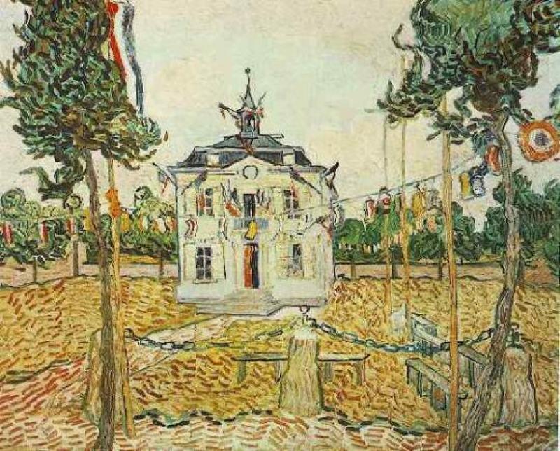 van-gogh-mairie-d-Auvers-sur-oise-14-juillet-1890